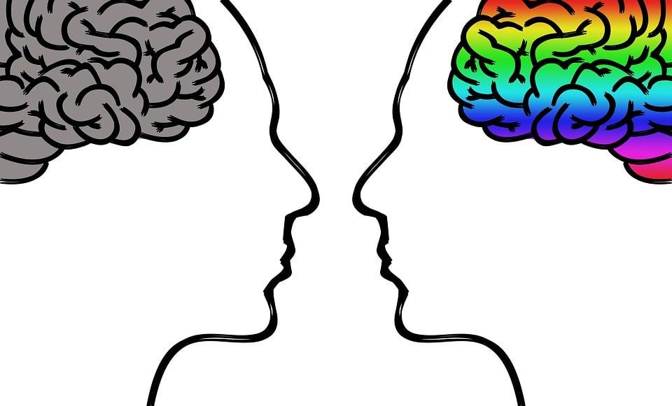 pensées négatives et pensées positives